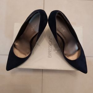 "BRAND NEW! Expression Navy 2"" Heels"